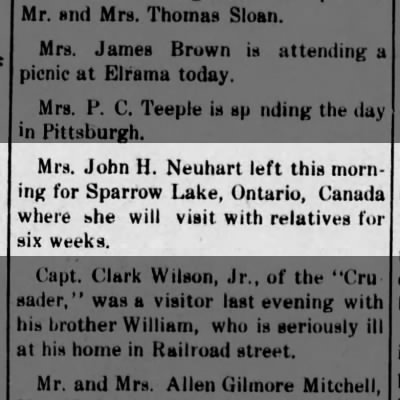 Sparrow Lake News
