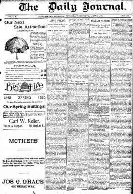 Logansport Pharos-Tribune from Logansport, Indiana on May 2, 1895 · Page 1