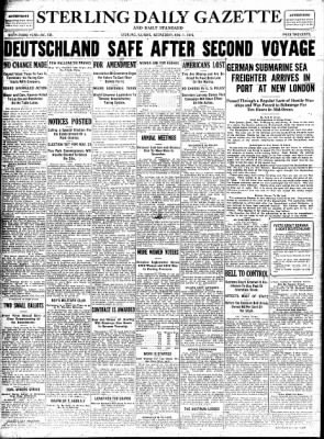 Sterling Standard from Sterling, Illinois on November 1, 1916 · Page 1