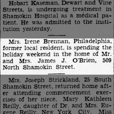 O'Brien & Brennan, 509 North Shamokin