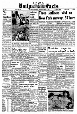 Redlands Daily Facts from Redlands, California on April 8, 1964 · Page 1