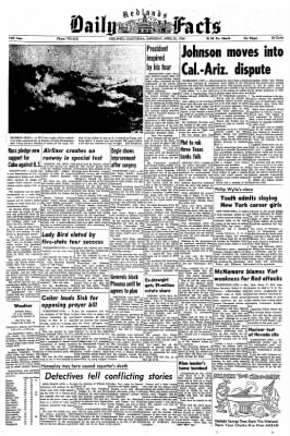 Redlands Daily Facts from Redlands, California on April 25, 1964 · Page 1