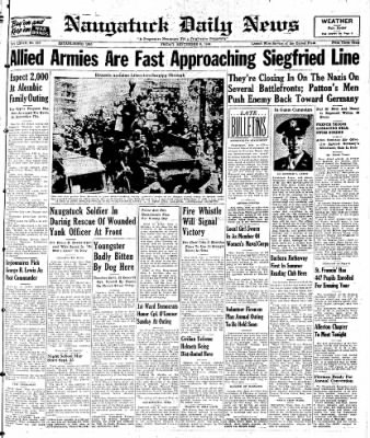 Naugatuck Daily News from Naugatuck, Connecticut on September 8, 1944 · Page 1
