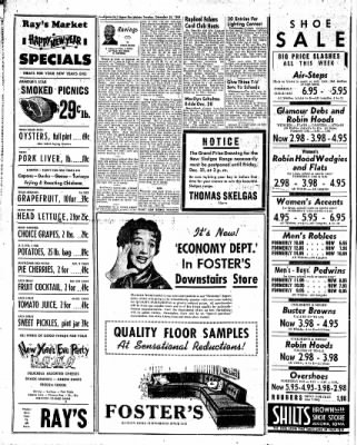 The Algona Upper Des Moines from Algona, Iowa on December 28, 1954 · Page 4