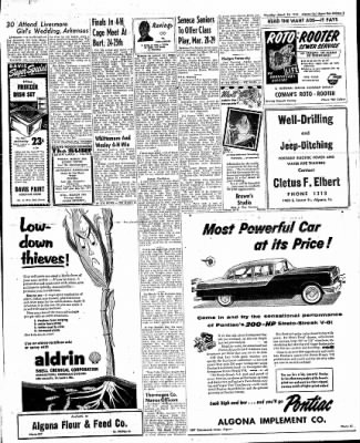The Algona Upper Des Moines from Algona, Iowa on March 24, 1955 · Page 13
