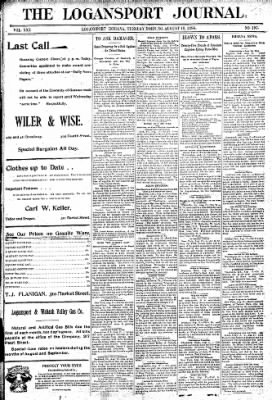 Logansport Pharos-Tribune from Logansport, Indiana on August 18, 1896 · Page 1