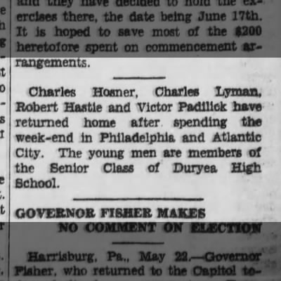 Grandpa's Sr. Trip to Philadelphia & Atlantic City - 5-22-1930