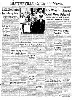 The Courier News from Blytheville, Arkansas on September 22, 1953 · Page 1