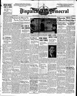 Ukiah Dispatch Democrat from Ukiah, California on April 23, 1948 · Page 1