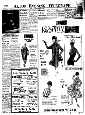 Alton Evening Telegraph from Alton, Illinois on June 23, 1960 · Page 21