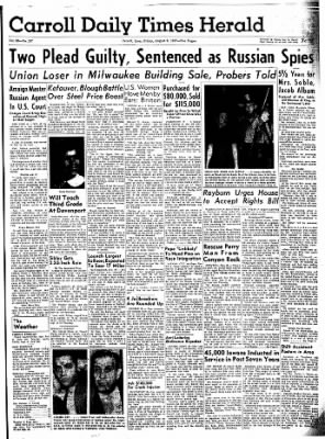 Carrol Daily Times Herald from Carroll, Iowa on August 9, 1957 · Page 1