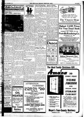 Postville Herald from Postville, Iowa on December 3, 1947 · Page 6