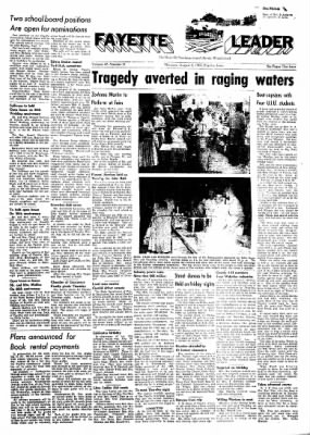 Fayette County Leader from Fayette, Iowa on August 3, 1961 · Page 1