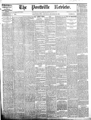 The Postville Review from Postville, Iowa on December 26, 1891 · Page 1