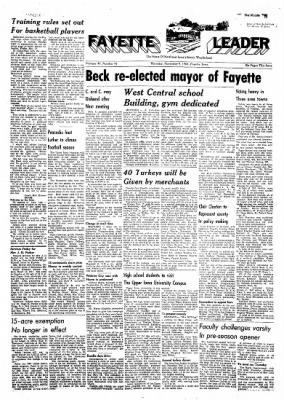 Fayette County Leader from Fayette, Iowa on November 9, 1961 · Page 1