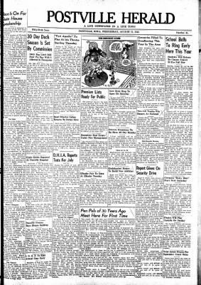 Postville Herald from Postville, Iowa on August 11, 1948 · Page 1