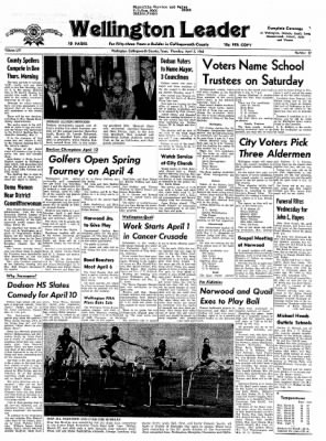 The Wellington Leader from Wellington, Texas on April 2, 1964 · Page 1