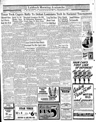 Lubbock Morning Avalanche from Lubbock, Texas on March 11, 1942 · Page 3