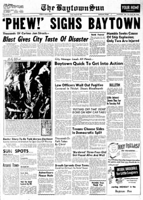 The Baytown Sun from Baytown, Texas on March 30, 1956 · Page 1