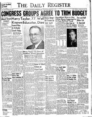 The Daily Register from Harrisburg, Illinois on February 4, 1948 · Page 1