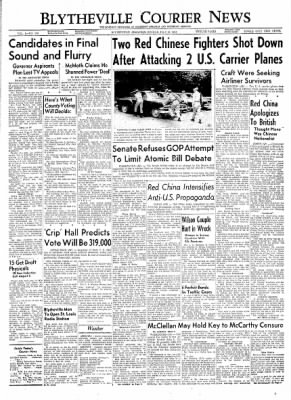 The Courier News from Blytheville, Arkansas on July 26, 1954 · Page 1