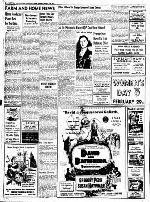 Northwest Arkansas Times from Fayetteville, Arkansas on February 16, 1952 · Page 8