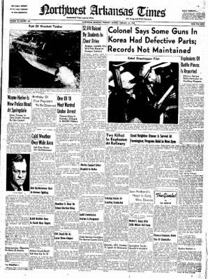 Northwest Arkansas Times from Fayetteville, Arkansas on February 21, 1952 · Page 1