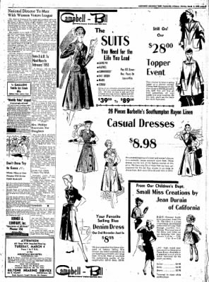 Northwest Arkansas Times from Fayetteville, Arkansas on March 3, 1952 · Page 3