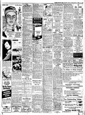 Northwest Arkansas Times from Fayetteville, Arkansas on March 13, 1952 · Page 19