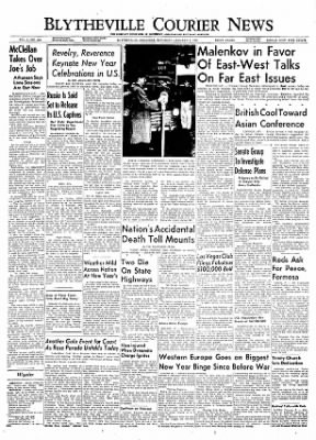 The Courier News from Blytheville, Arkansas on January 1, 1955 · Page 1